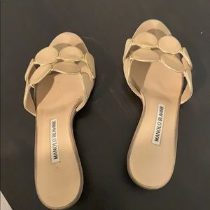 Manoel Blahnik Mules Sandals Mid heel